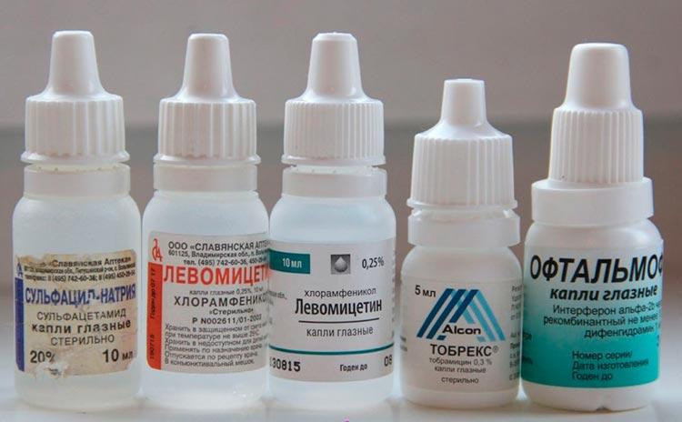 глазные капли противомикробные